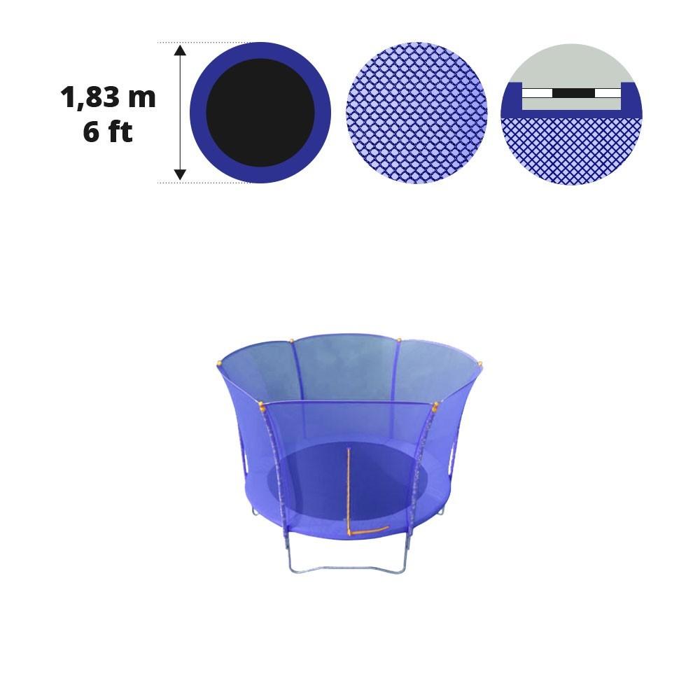 sicherheitsnetz f r trampolin hop 180. Black Bedroom Furniture Sets. Home Design Ideas