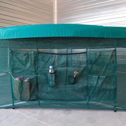 Rahmensicherheitsnetz mit Ablagefächern Trampolin Ovalie 430