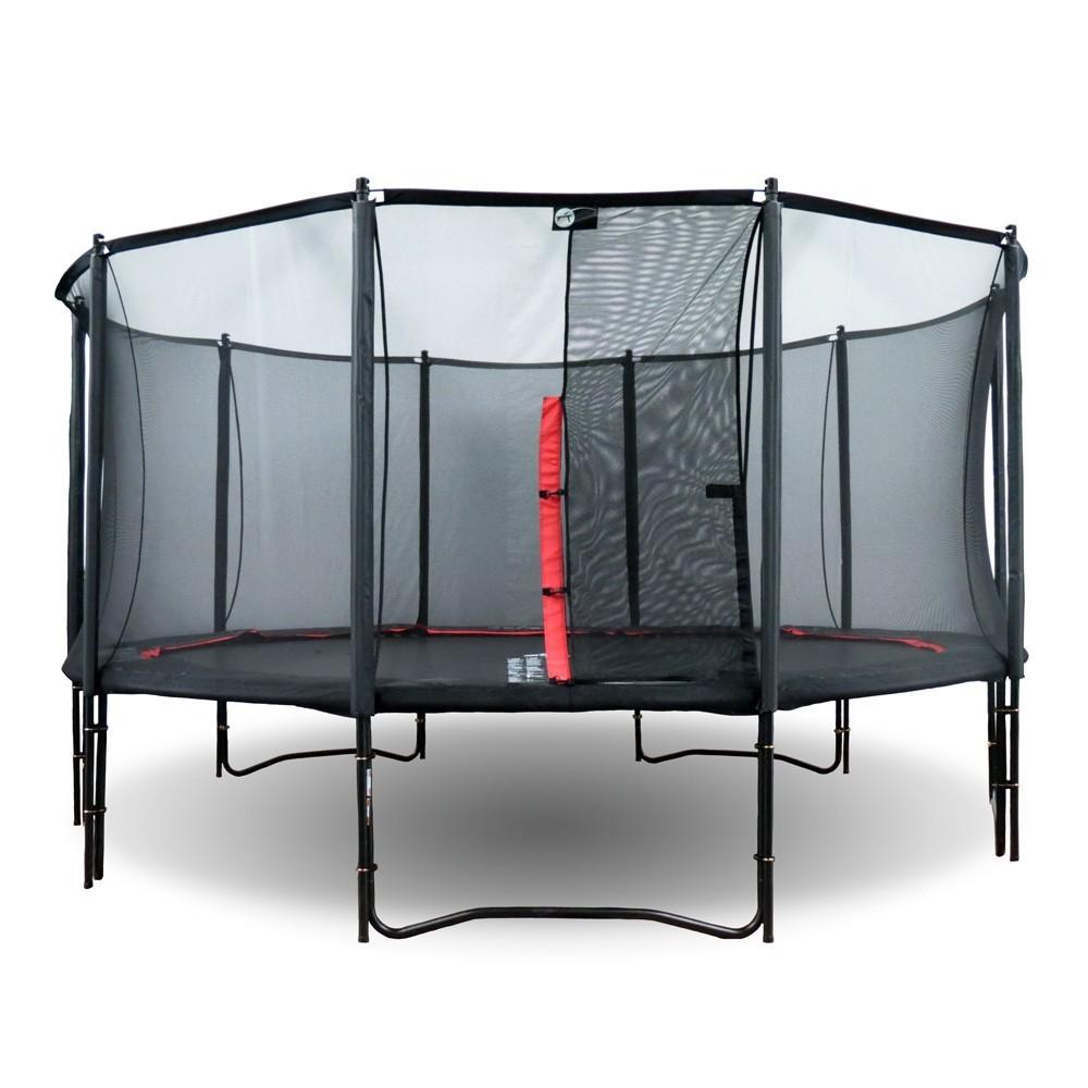 trampolin booster black 490 mit netz. Black Bedroom Furniture Sets. Home Design Ideas