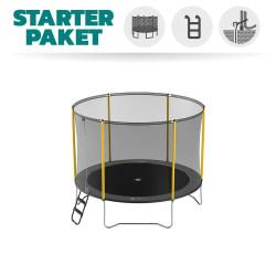 Pack Basic Trampoline Initio 300 avec filet + Échelle + Kit d'ancrage