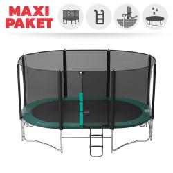Maxi Paket Ovalie 490 mit Netz + Leiter + Erdanker + Abdeckplane