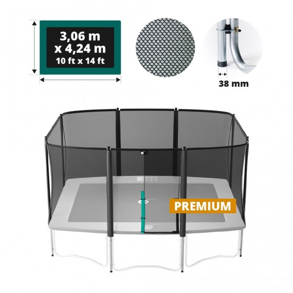 Premium Sicherheitsnetz mit Randpfosten für Atmosphär 400