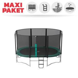 Maxi Pack Ovalie 360 mit Fangnetz + Leiter + Verankerung + Abdeckplane