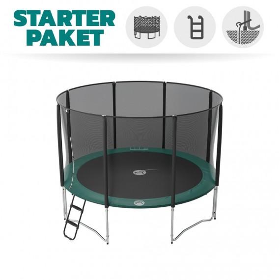 Starter Paket Trampolin Jump'Up 360 mit Netz + Leiter + Ankerset