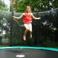 Trampolin Jump'Up 360 mit Fangnetz