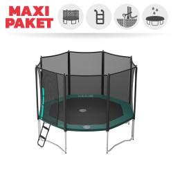 Maxi Paket Trampolin Jippieh 360 mit Fangnetz + Leiter + Ankerset + Abdeckplane