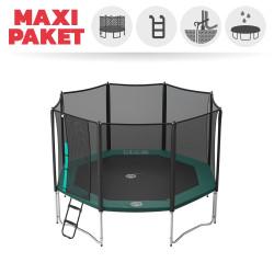 Maxi Paket Trampolin Jippieh 390 mit Fangnetz + Leiter + Ankerset + Abdeckplane