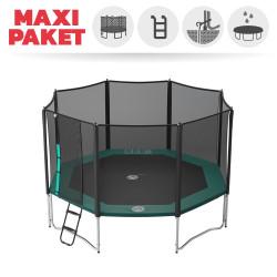 Maxi Paket Trampolin Jippieh 430 mit Netz + Leiter + Ankerset + Abdeckung