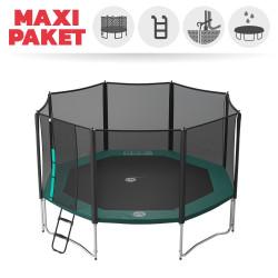 Maxi Paket Trampolin Jippieh 460 mit Netz + Leiter + Ankerset + Abdeckung