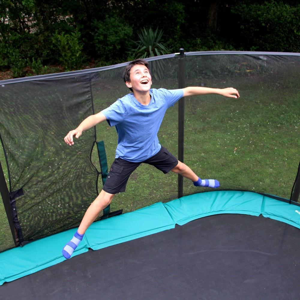 ovalie trampolin 360 mit premium netz. Black Bedroom Furniture Sets. Home Design Ideas