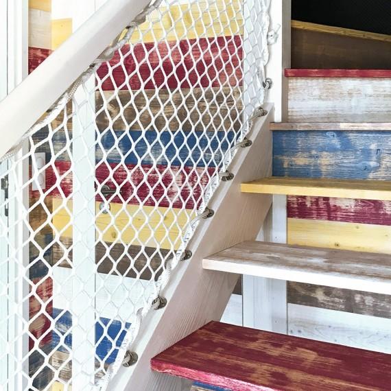 Brüstungsnetz für Treppengeländer im Außenbereich