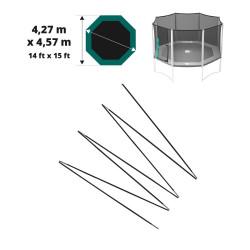 Fiberglasbögen für das Sicherheitsnetz des Jippieh 460