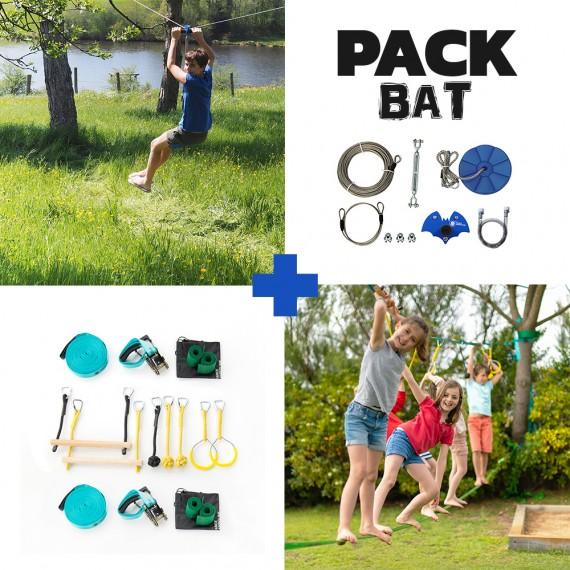 Bat Pack - Fury Seilrutsche + Ninja-Parcours