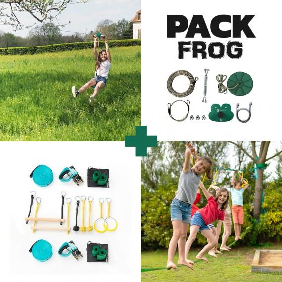 Frog Pack - Fury Seilrutsche + Ninja-Parcours
