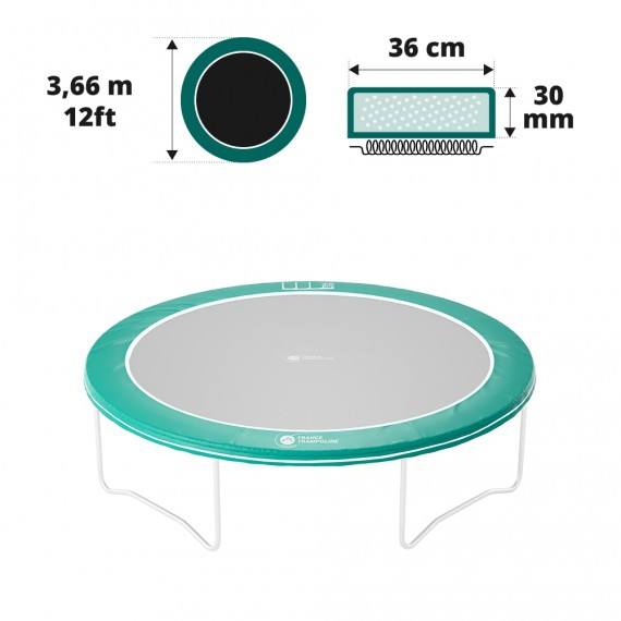 Schutzrand für rundes Trampolin mit 3,66 m Rahmen-Durchmesser
