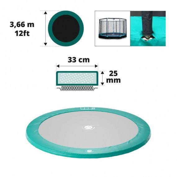 Grüne Schutzauflage für unterirdisches Trampolin Ø366