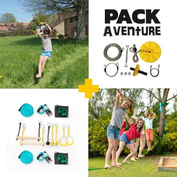 Abenteuer Pack - Indiana Seilrutsche + Ninja-Parcours