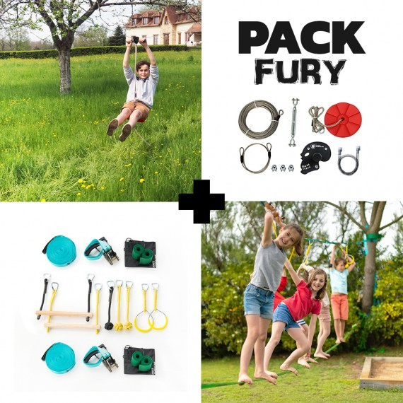 Fury Pack - Fury Seilrutsche + Ninja-Parcours