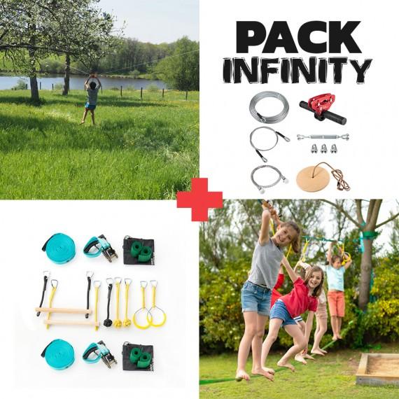 Infinity Pack - Infinity Seilrutsche + Ninja-Parcours