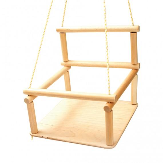 Babyschaukel aus Holz für Kletterdreieck