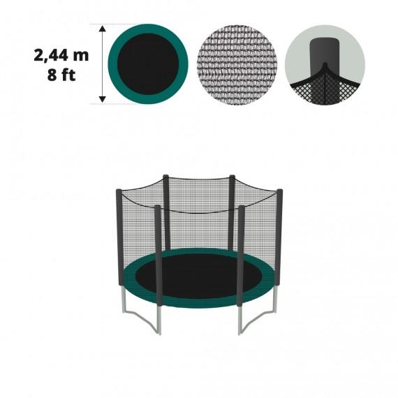 Filet textile pour trampoline 250 avec gaines