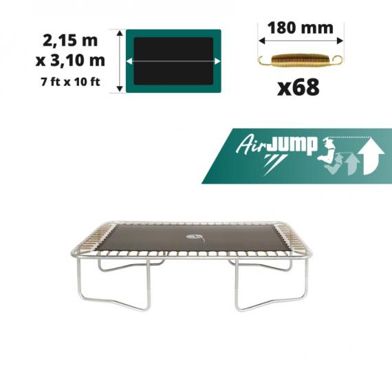 Sprungtuch AirJump für rechteckiges Trampolin 300 für 68x 180mm Federn