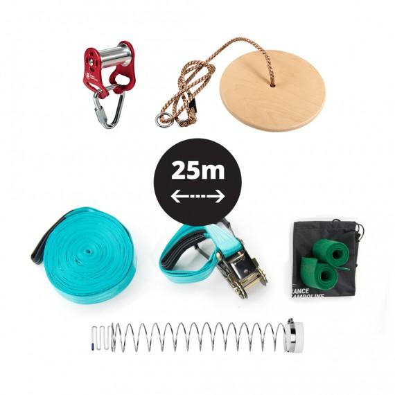 Pack Slackline-Seilrutsche 25m