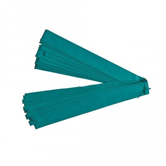 Grüne Pfostenhülle Ø25 mm für Netz mit Schlaufen