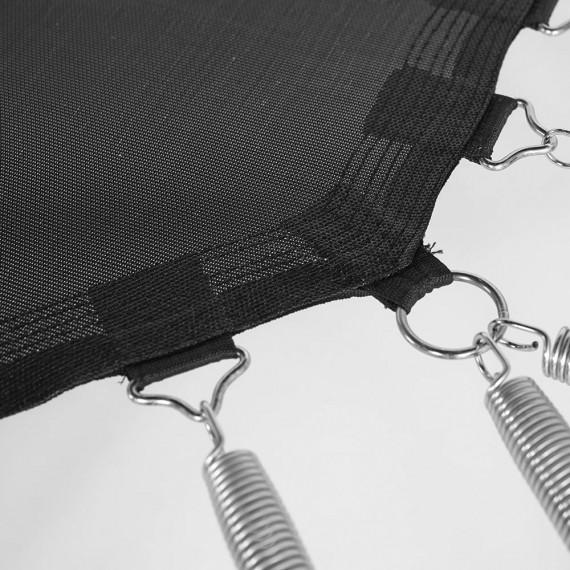 Toile de saut pour trampoline Waouuh 390 à 96 ressorts argentés 230mm