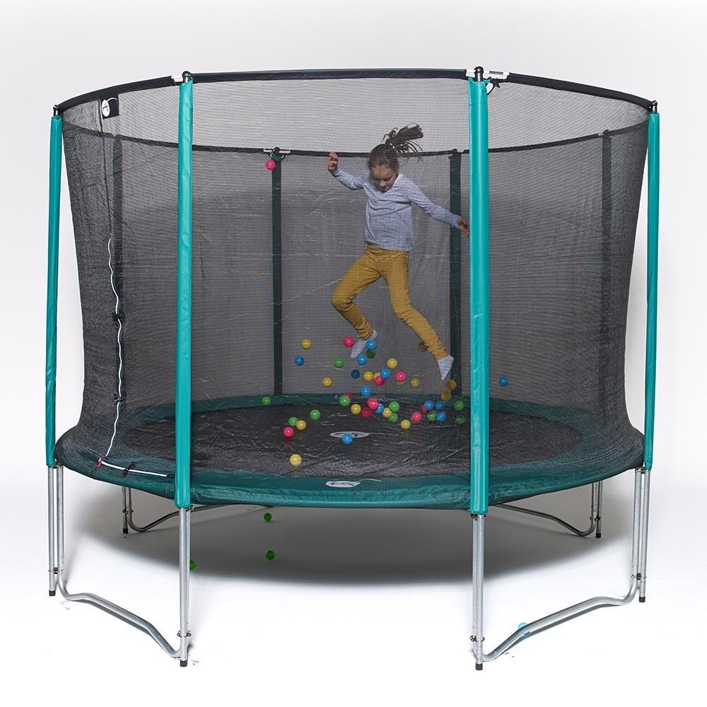 trampolin jump up 360 mit fangnetz der familientyp. Black Bedroom Furniture Sets. Home Design Ideas
