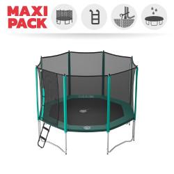 Jippieh 360-Trampolin mit Fangnetz und Leiter