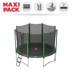 Maxi Packet Trampolin Access 360 mit Netz + Leiter + Ankerset + Abdeckplane
