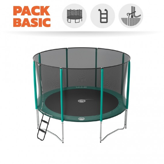 Starter Packet Trampolin Jump'Up 360 mit Netz + Leiter + Ankerset