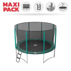 Maxi Packet Trampolin Jump'Up 360 mit Netz + Leiter + Ankerset + Premium Abdeckplane