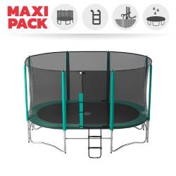 Maxi Paket Ovalie 430 mit Netz + Leiter + Erdanker + Abdeckplane