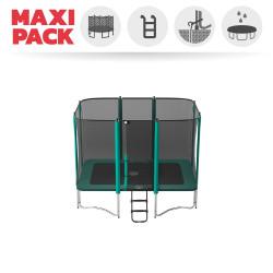 Maxi Paket Trampolin Atmosphär 300 mit Netz + Leiter + Ankerset + Abdeckplane