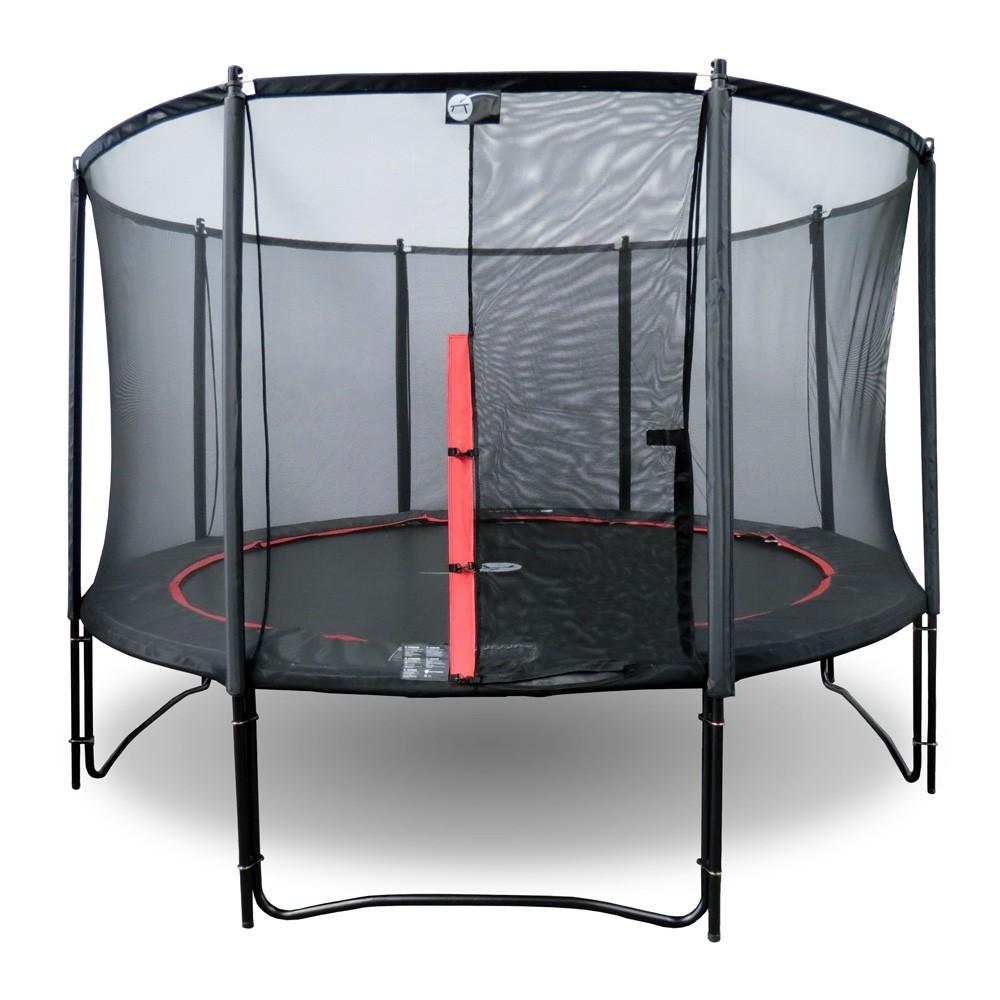 trampolin booster black 360 mit netz. Black Bedroom Furniture Sets. Home Design Ideas