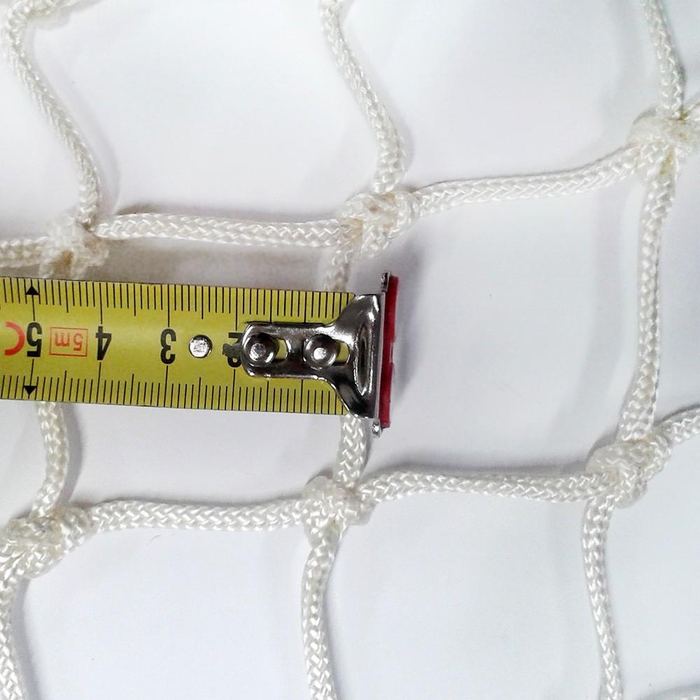 Wohnungsnetz mit geknoteten 50 mm Maschen, weiß