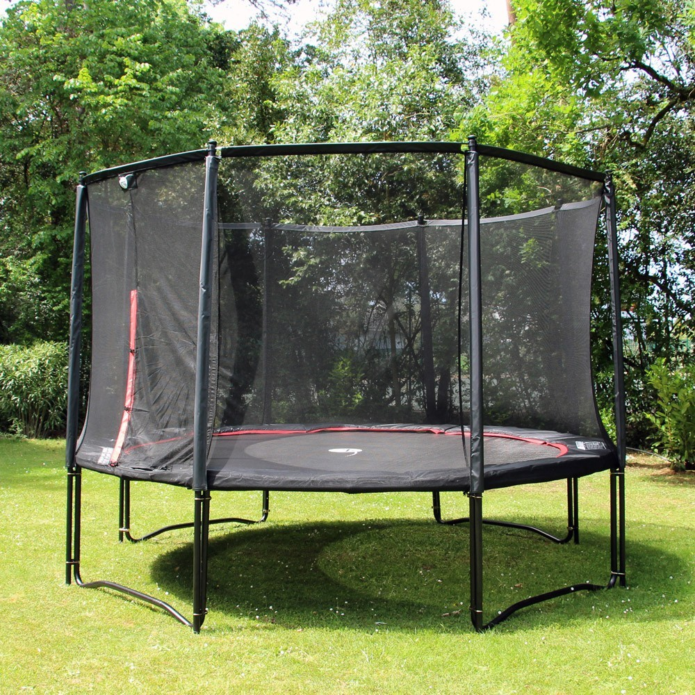 trampolin booster black 360 mit netz. Black Bedroom Furniture Sets. Home Design Ideas