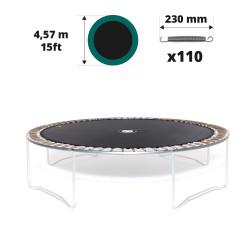 Sprungtuch für Trampolin Ø 457 für 110x 230 mm versilberten Federn