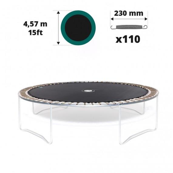 Sprungtuch für Trampolin Ø 457 mit 110x 230 mm versilberten Federn