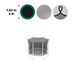 Fangnetz mit Spanngurten für Trampoline Ø 183