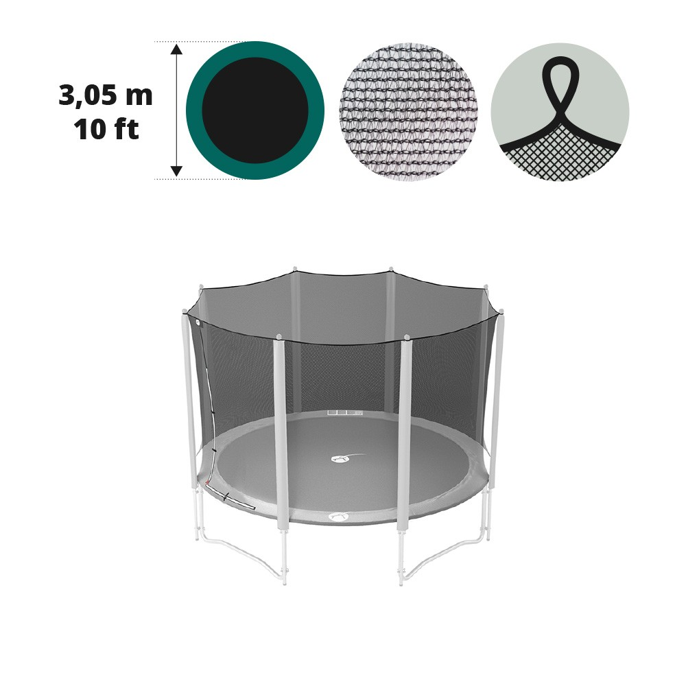 sicherheitsnetz f r rundes trampolin 3 05 m durchmesser. Black Bedroom Furniture Sets. Home Design Ideas
