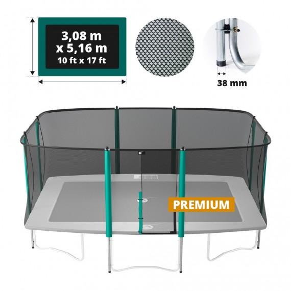 Premium Sicherheitsnetz mit Randpfosten für Atmosphär 500