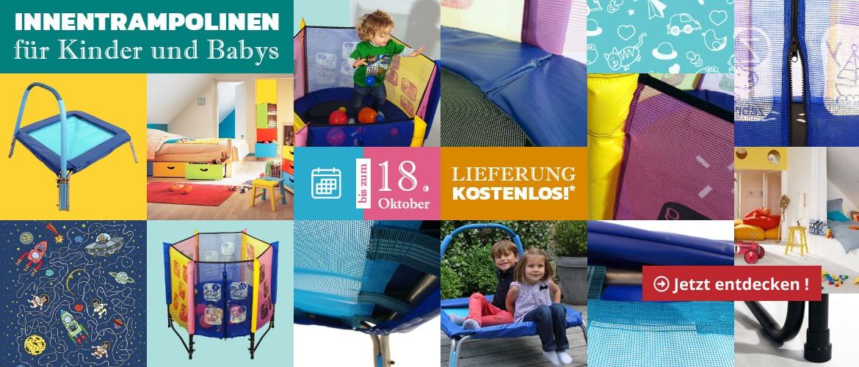 Kostenfreie Lieferung von Innentrampolinen für Kinder und Babys !