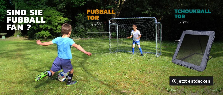 Fußballtor und Tchoukballtore