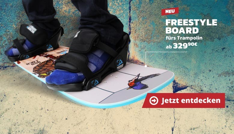 Neu : Freestyle Board fürs Trampolin !