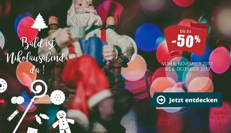 Bis zu - 50 % : Bald ist Nikolausabend da !