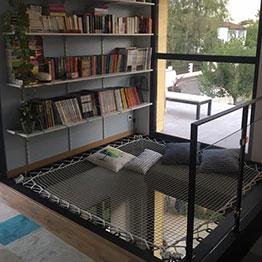 Wohnungsnetz in der Bibliothek