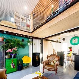 Lese-Netz in einem modernen Haus - EMA Architecte Bordeaux